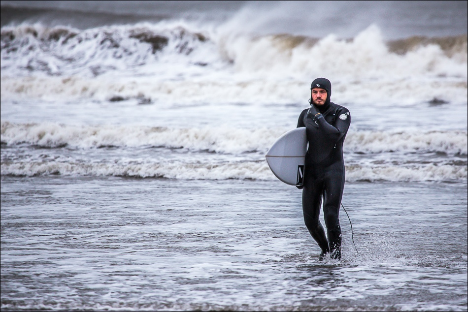 surfer in North Bay Scarborough