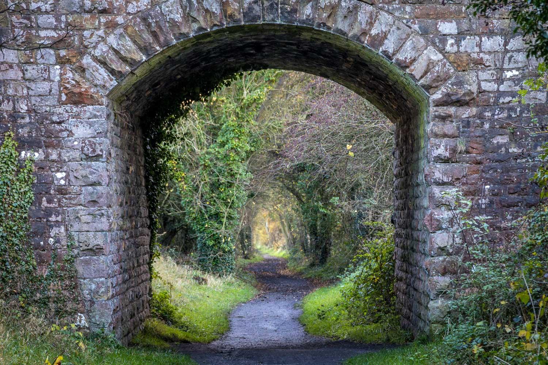 Hayburn Wyke walk, cinder track, tunnel
