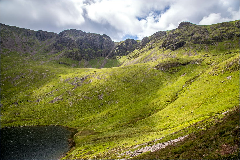 Chapel Crags, Bleaberry Tarn