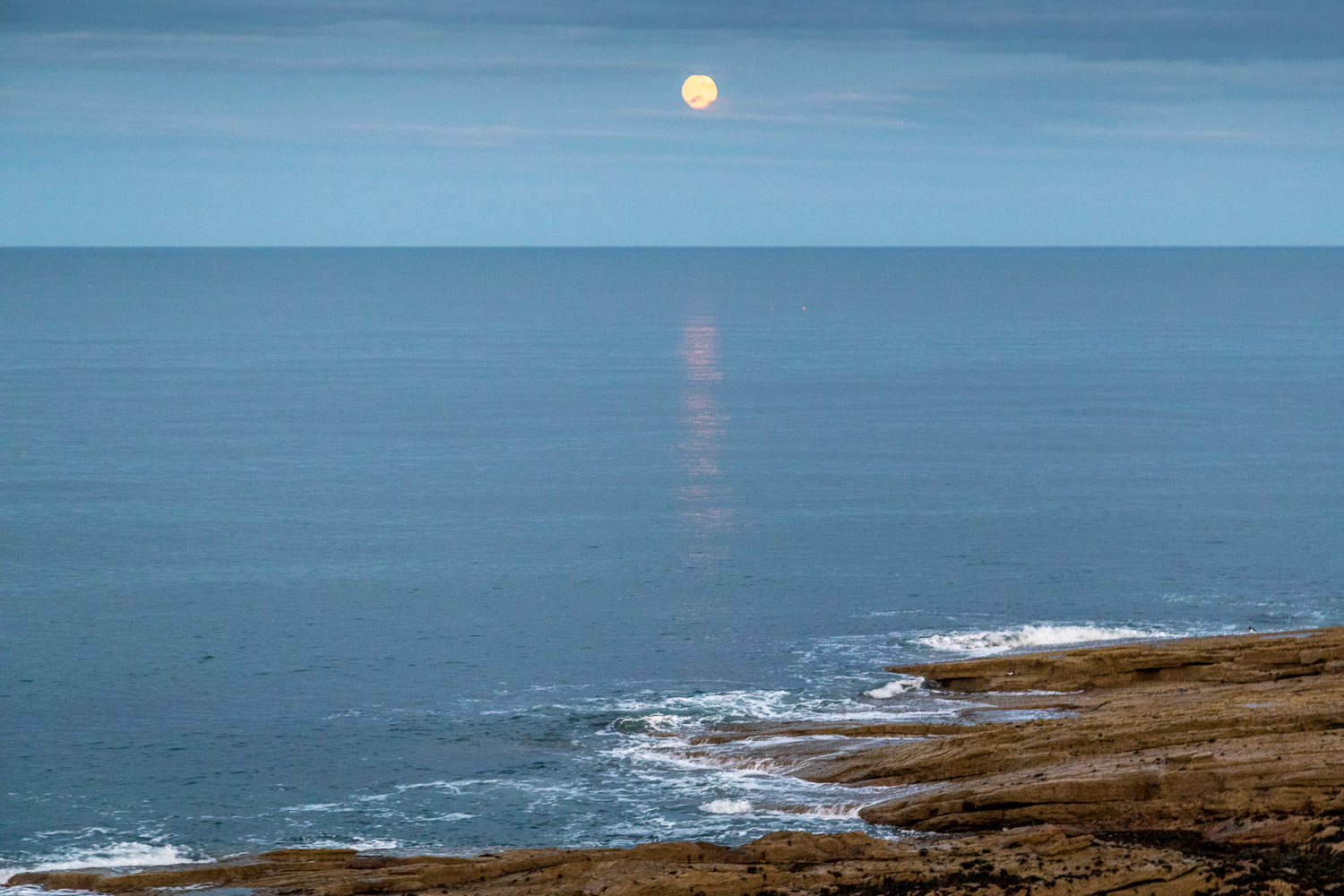 The Bathing House Northumberland moonrise