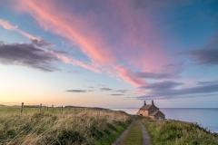 The Bathing House Northumberland sunset