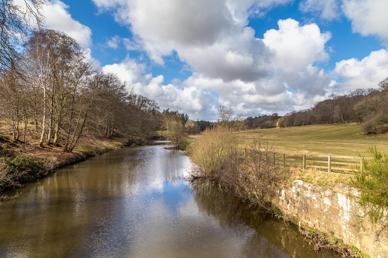Hulne Park, River Aln, Monk's Bridge