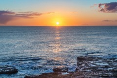 Dawn, Northumberland coast