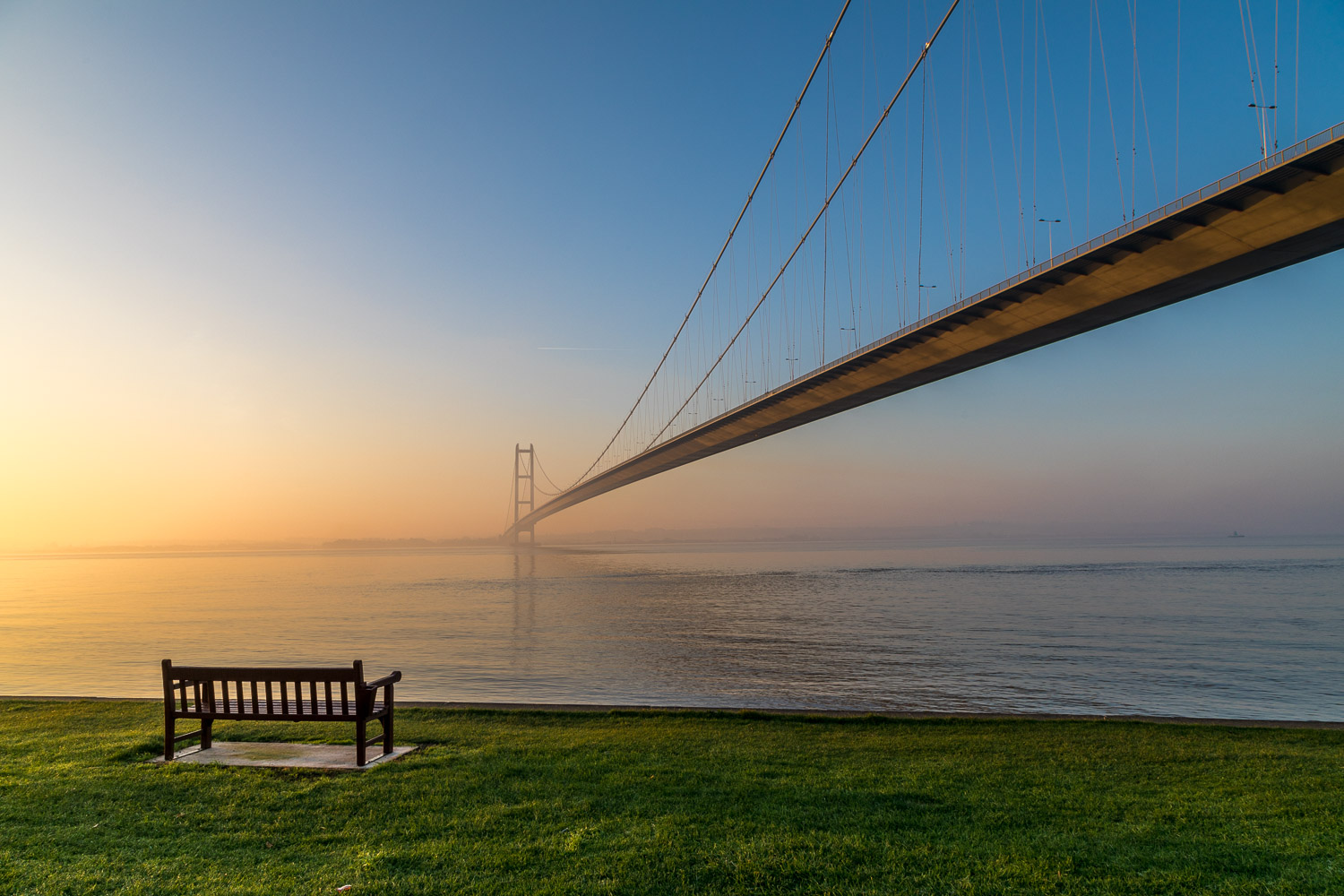 Humber Bridge dawn