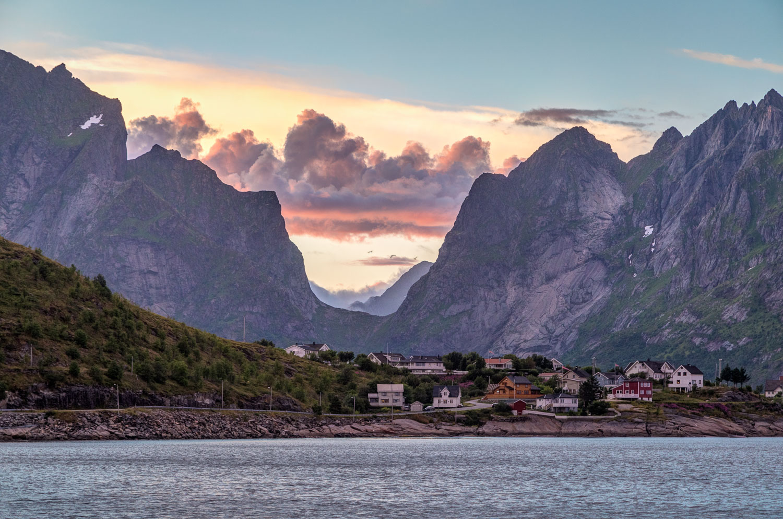Reine Rorbuer, Lofoten, sunset