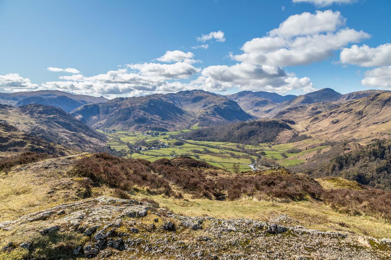 Kings How summit, Kings How walk, Grange Fell walk, Borrowdale view