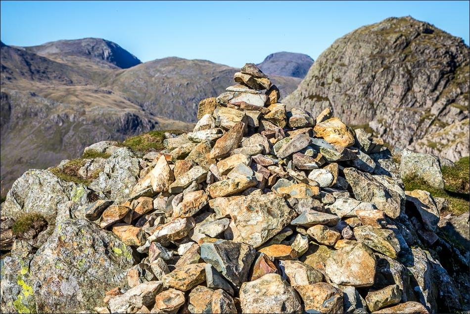 Summit cairn on Loft Crag