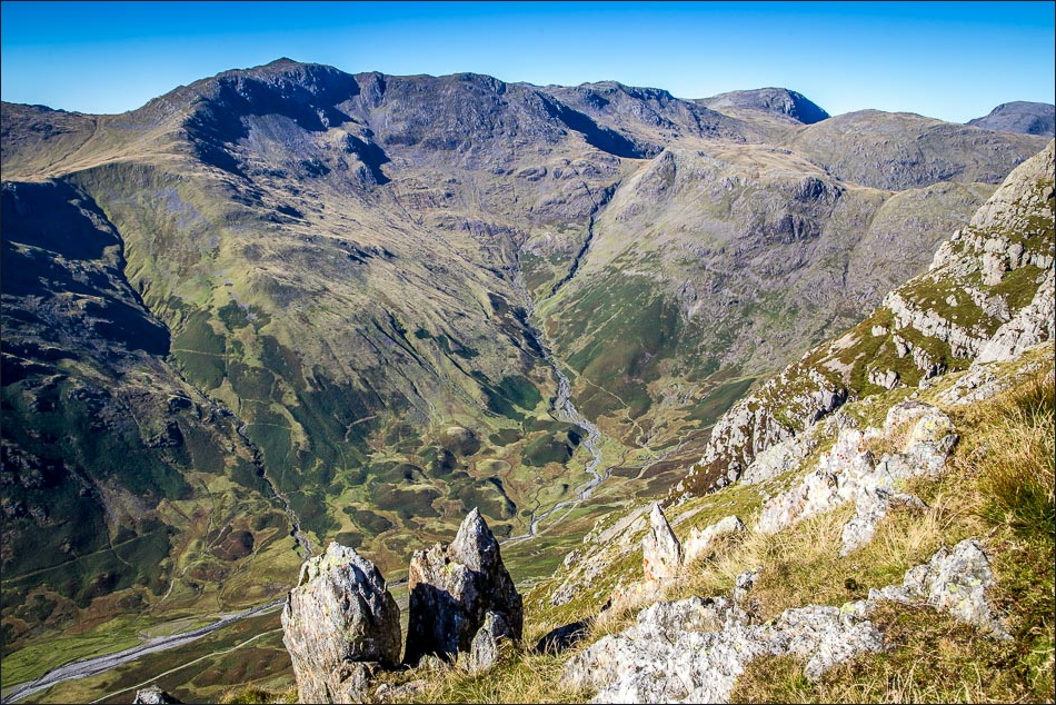 Bow Fell and Mickleden