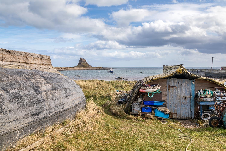 Lindisfarne boat keels, Holy Island huts