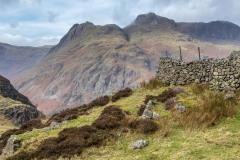 The Langdale Pikes, Pike o' Stickle, Loft Crag, Thorn Crag, Harrison Stickle, Pavey Ark