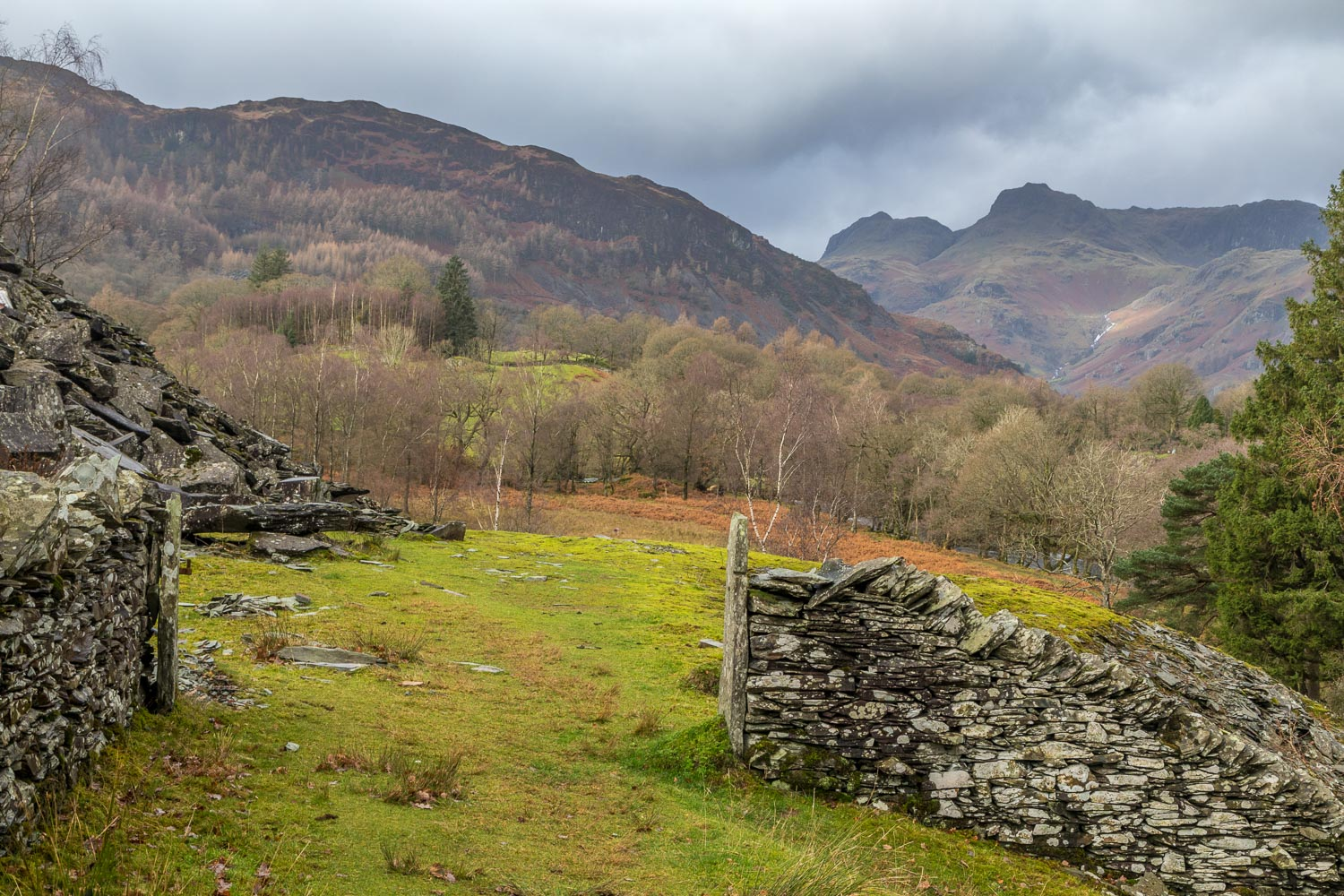 Little Langdale, slate quarries