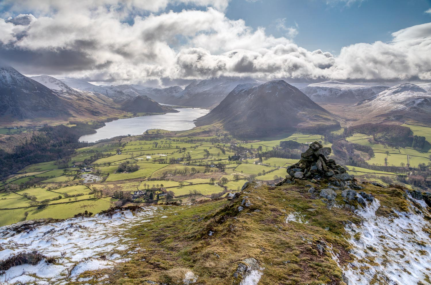 Low Fell view, Crummock WAaer, Mellbreak