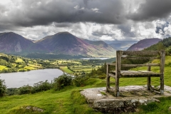 Loweswater walk, bench