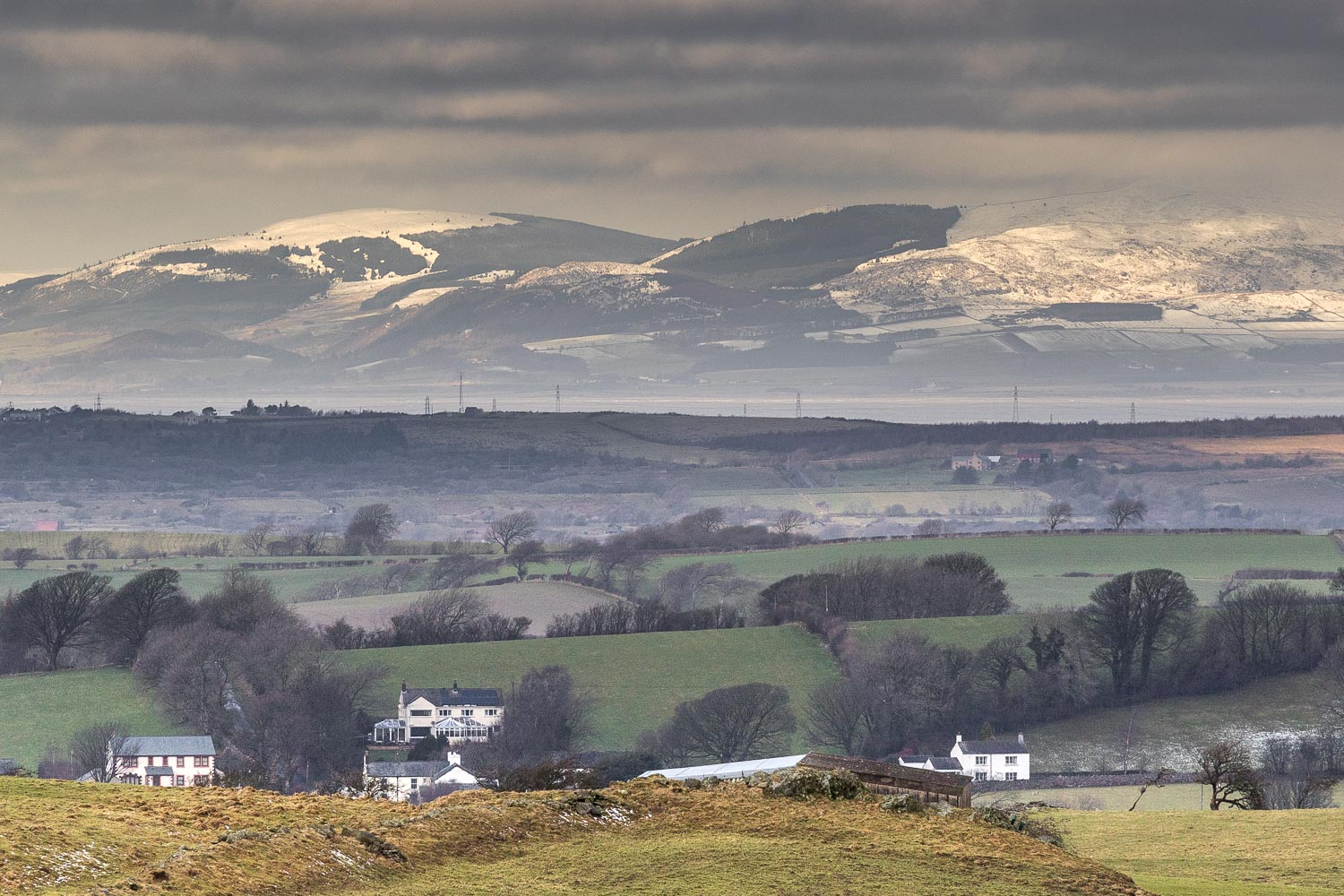Solway Firth and the hills of Scotland
