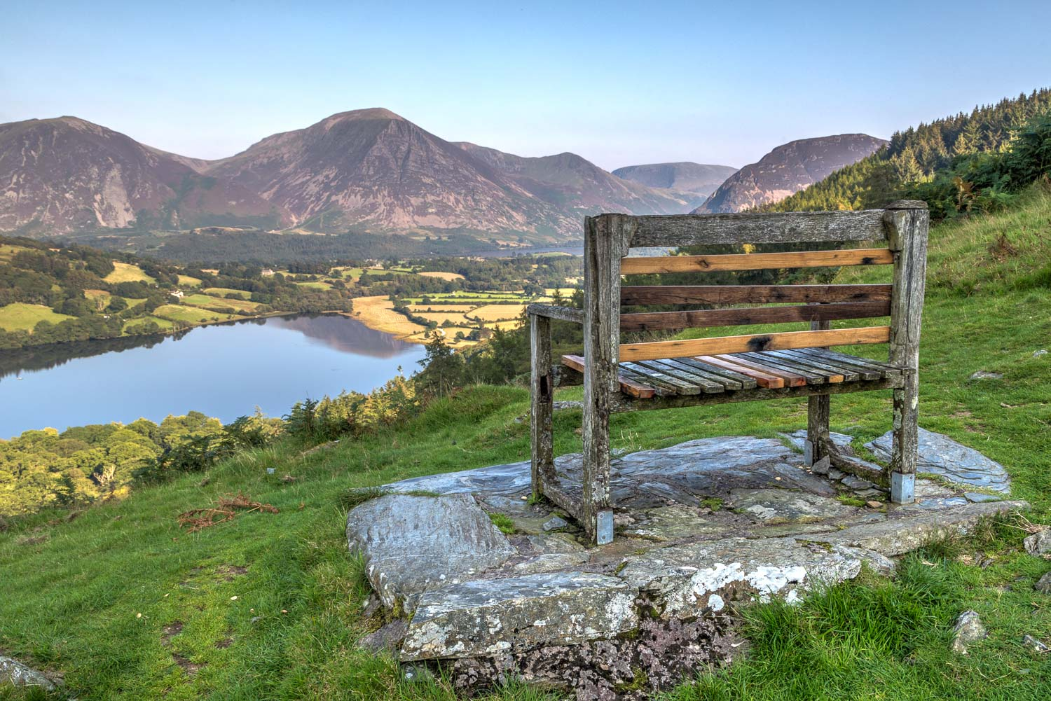 Loweswater walk, Loweswater bench