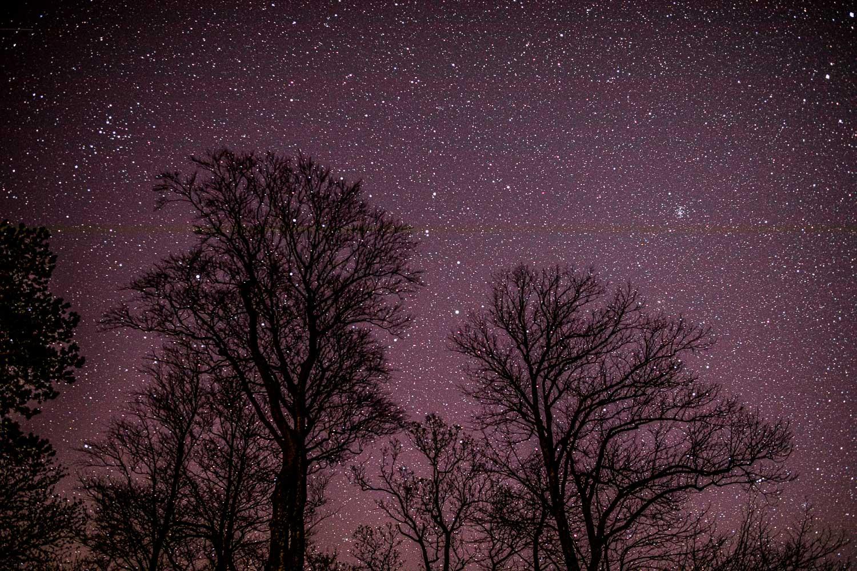 Night sky, stars, Lorton Vale
