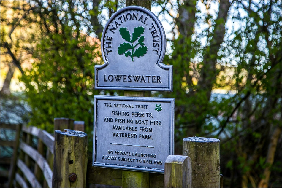 Loweswater Nastional Trust sign