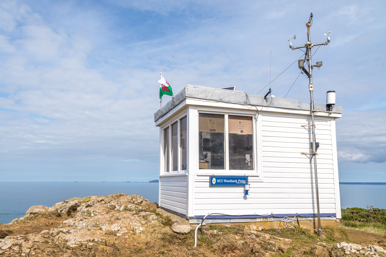 Marloes Peninsula walk, Wales Coast Path, lookout post