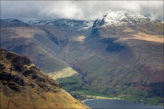 Scafells from Middle Fell