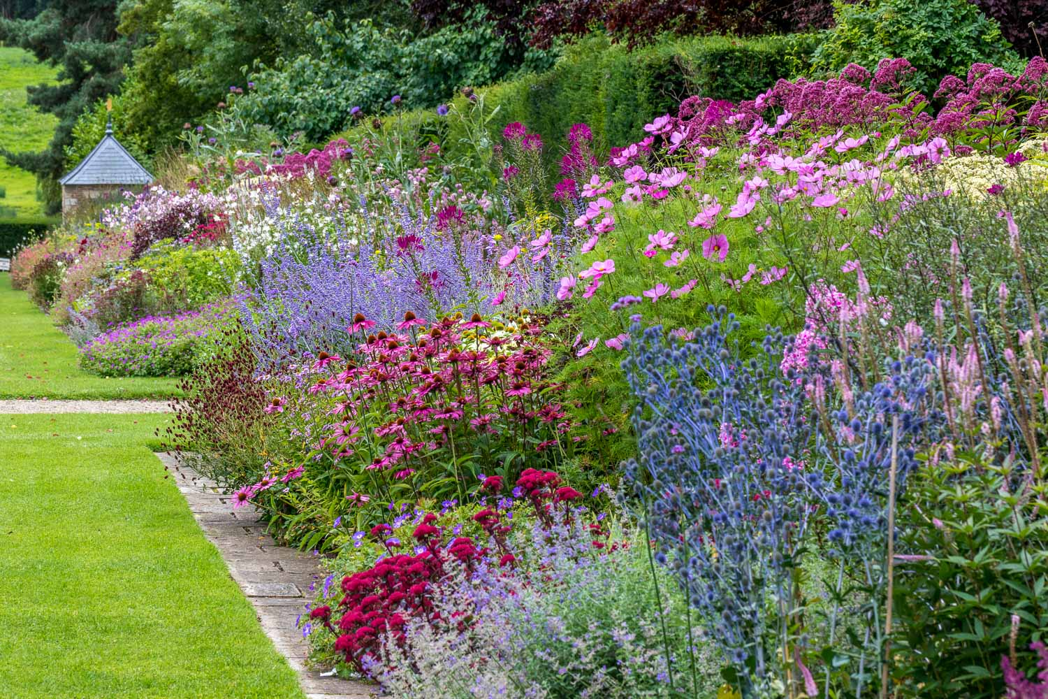 Newby Hall garden, borders