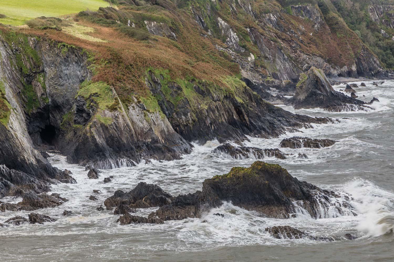 Newport Bay cliffs
