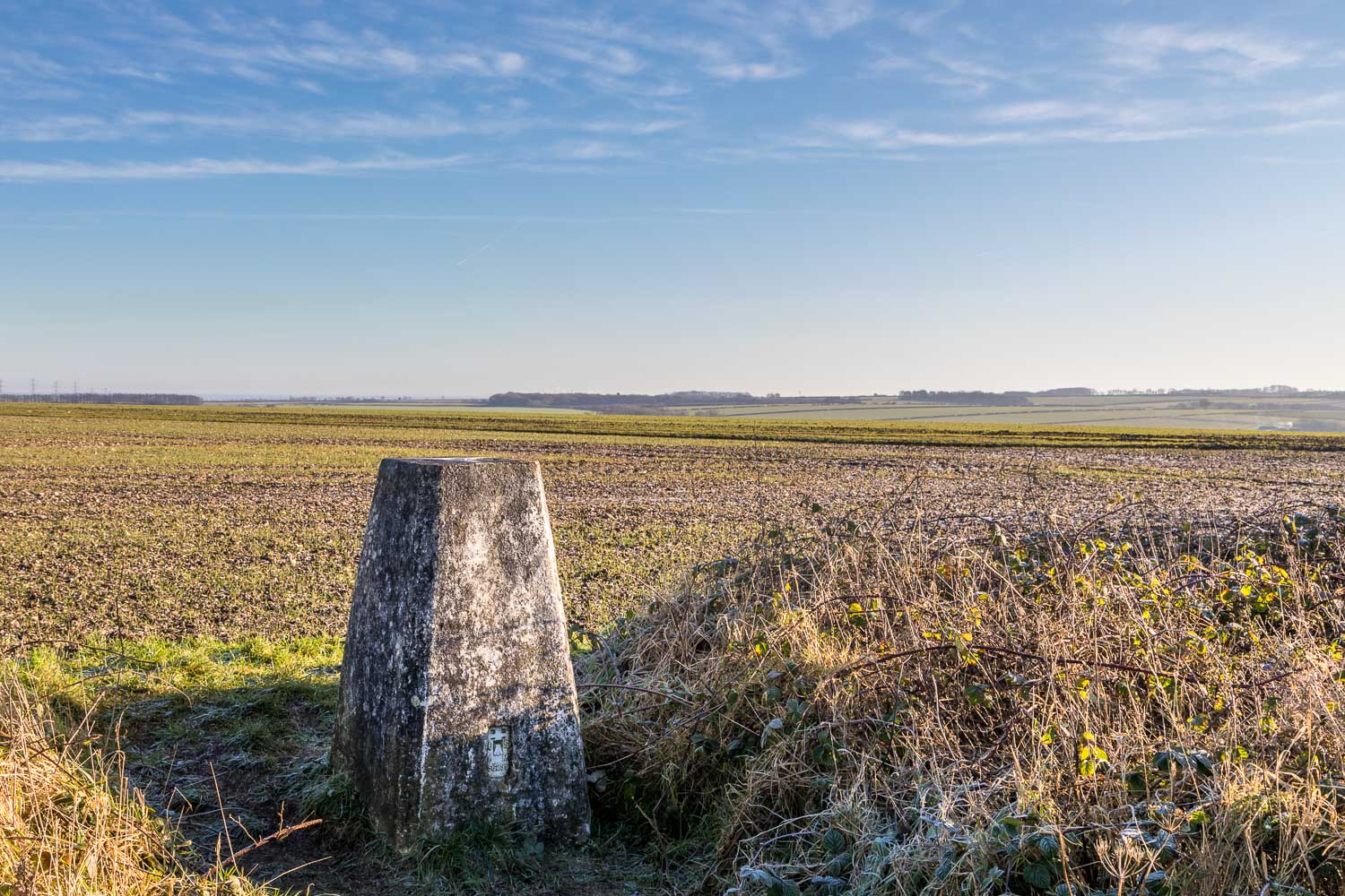 OS trig point, High Hunsley Circuit