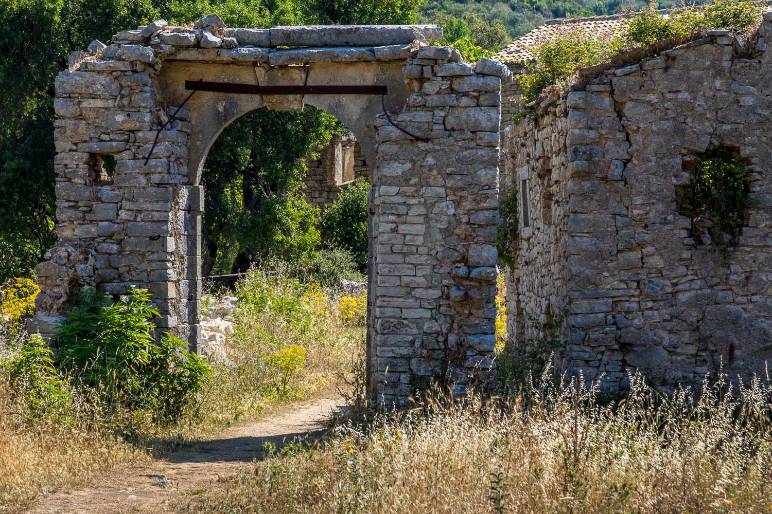 Old Perithia Trail Old Perithia Almiros Beach Corfu