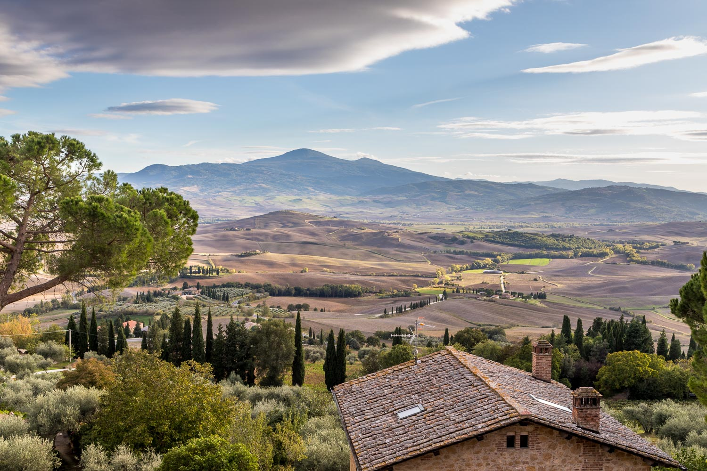 Pienza, Passeggiata Panoramica, Val d'Orcia, Monte Amiata