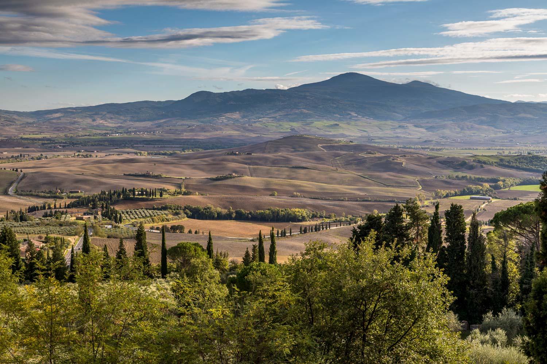 Pienza, Passeggiata Panoramica, Val d'Orcia