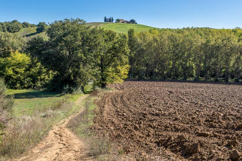San Quirico to Pienza walk, Val d'Orcia, Chapel Vitaleta