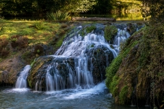 waterfall in the River l'Alzon