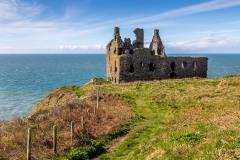 Portpatrick walk, Dunksey Castle