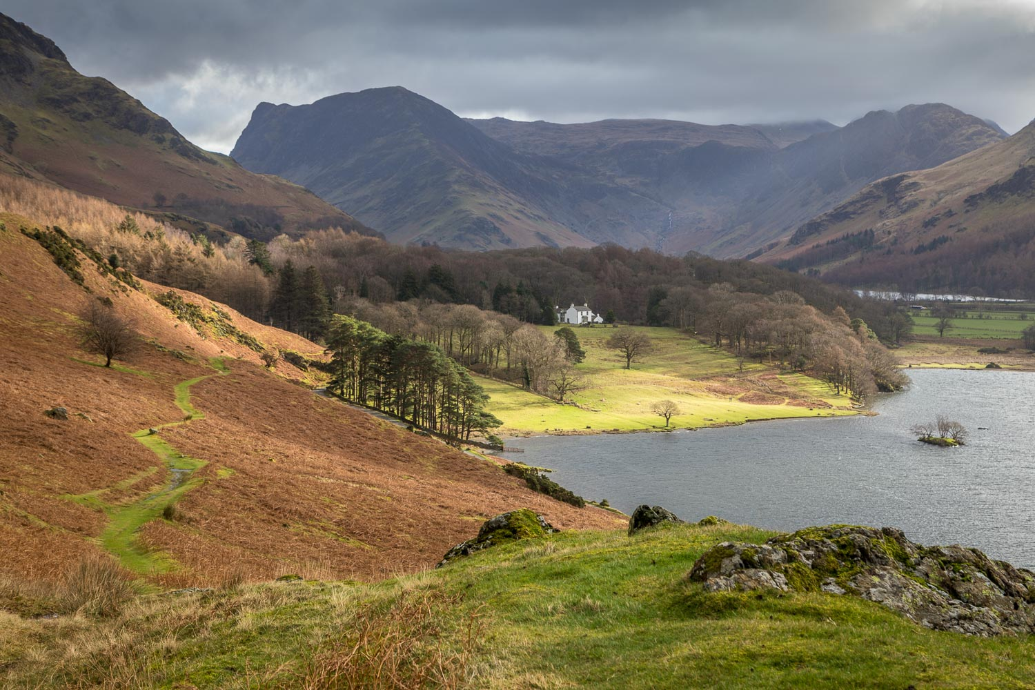 Crummock Water, Fleetwith Pike, Haystacks, Wood House