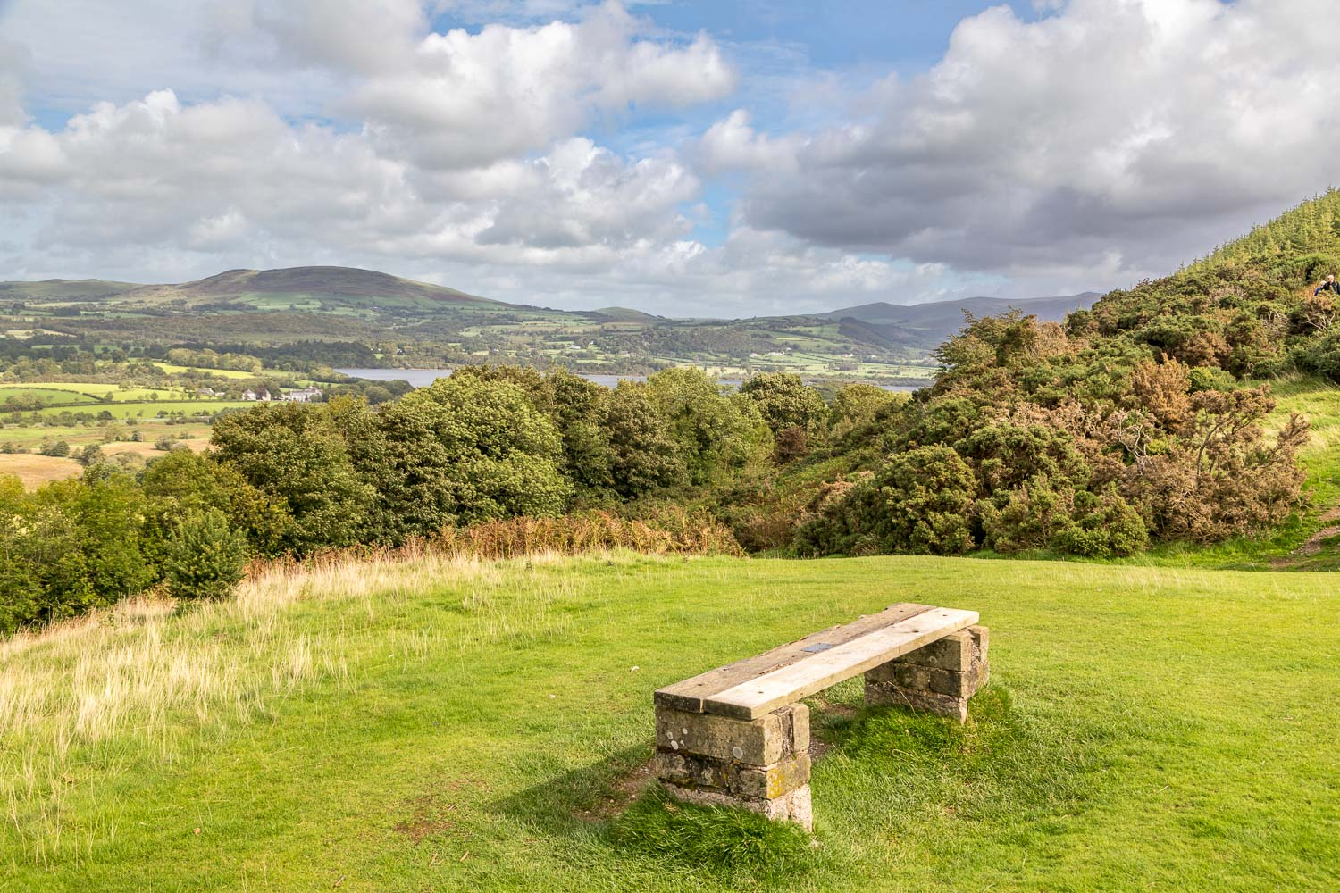 Bench overlooking Bassenthwaite Lake and the Wythop Valley