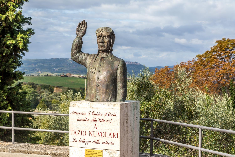 Bust of Tazio Nuvolari San Quirico