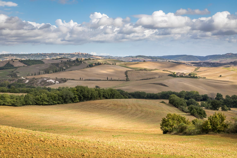 San Quirico d'Orcia to Bagno Vignoni walk, Pienza view