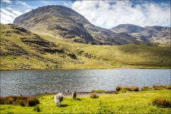 Styhead Tarn, Great End and Scafell Pike