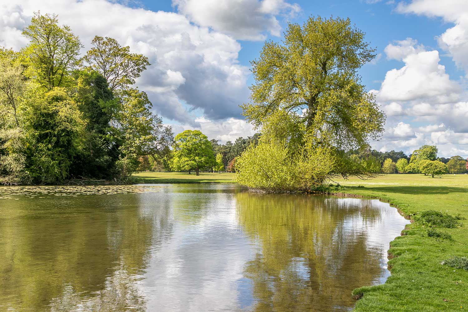 Scampston Hall lake, Capability Brown