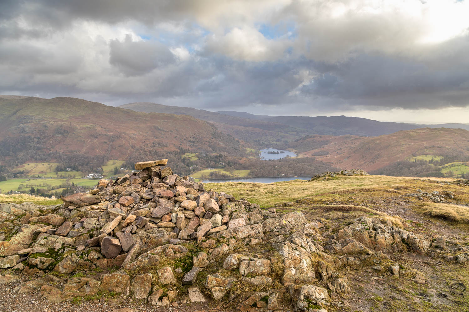 Silver How summit, Grasmere, Rydal Water