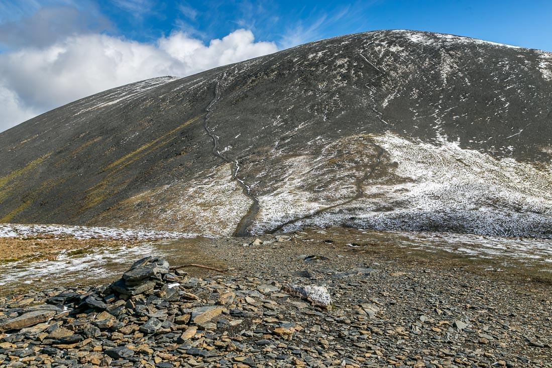 Skiddaw walk, Carl Side summit