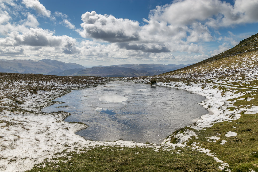 Skiddaw walk, Carlside Tarn