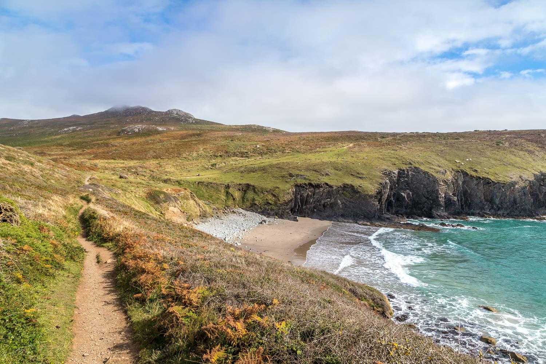 St David's Head walk, Porthmelgan beach, Carn Llidi