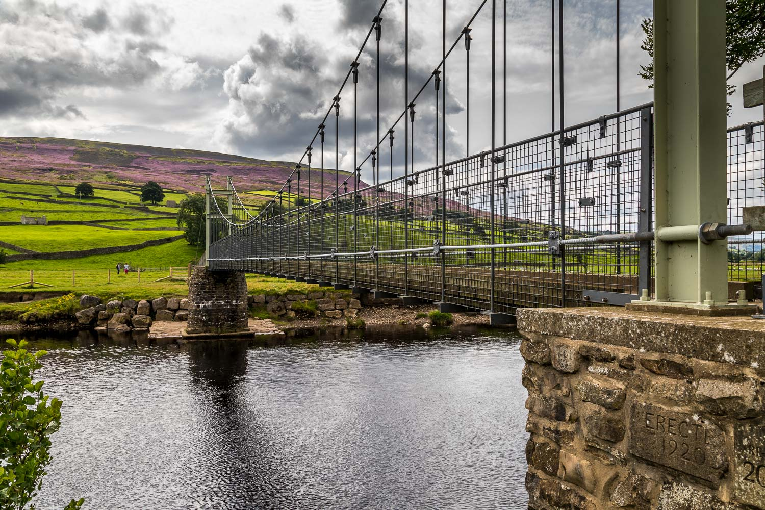 Reeth Suspension Bridge,