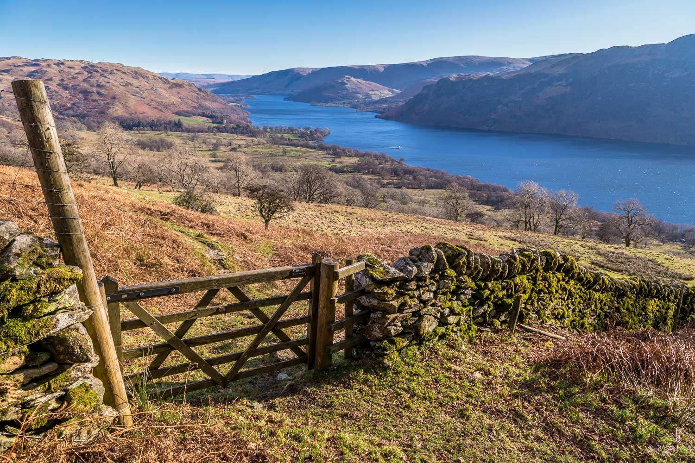 Ullswater view, gate