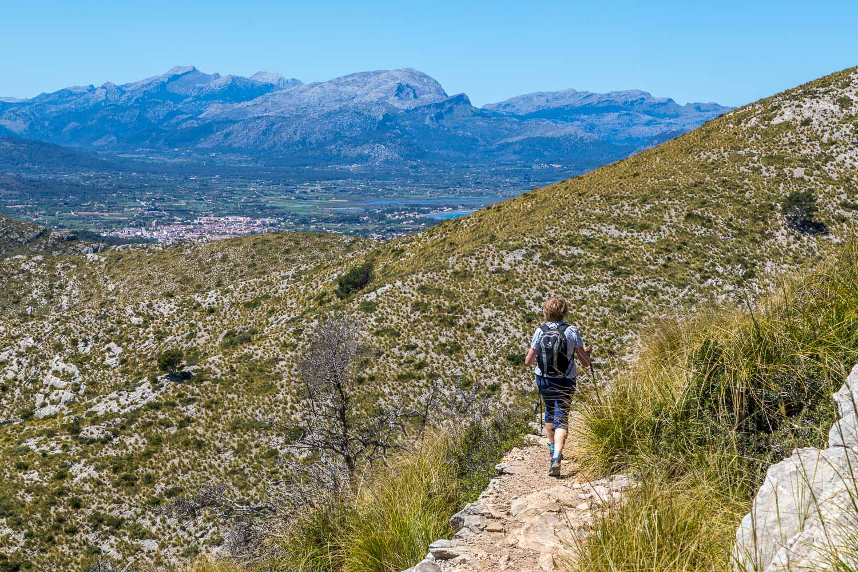 Tramuntana mountains beyond Alcúdia