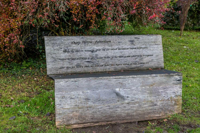 Bench at Thorp Perrow Arboretum