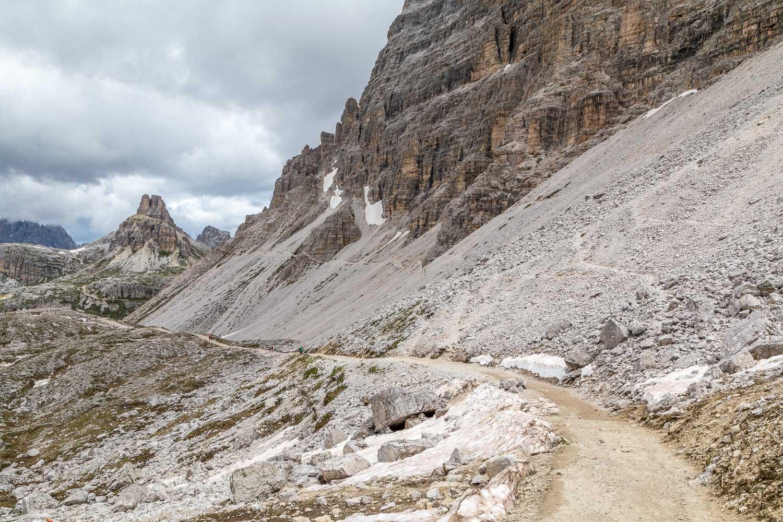 path below Monte Paterno