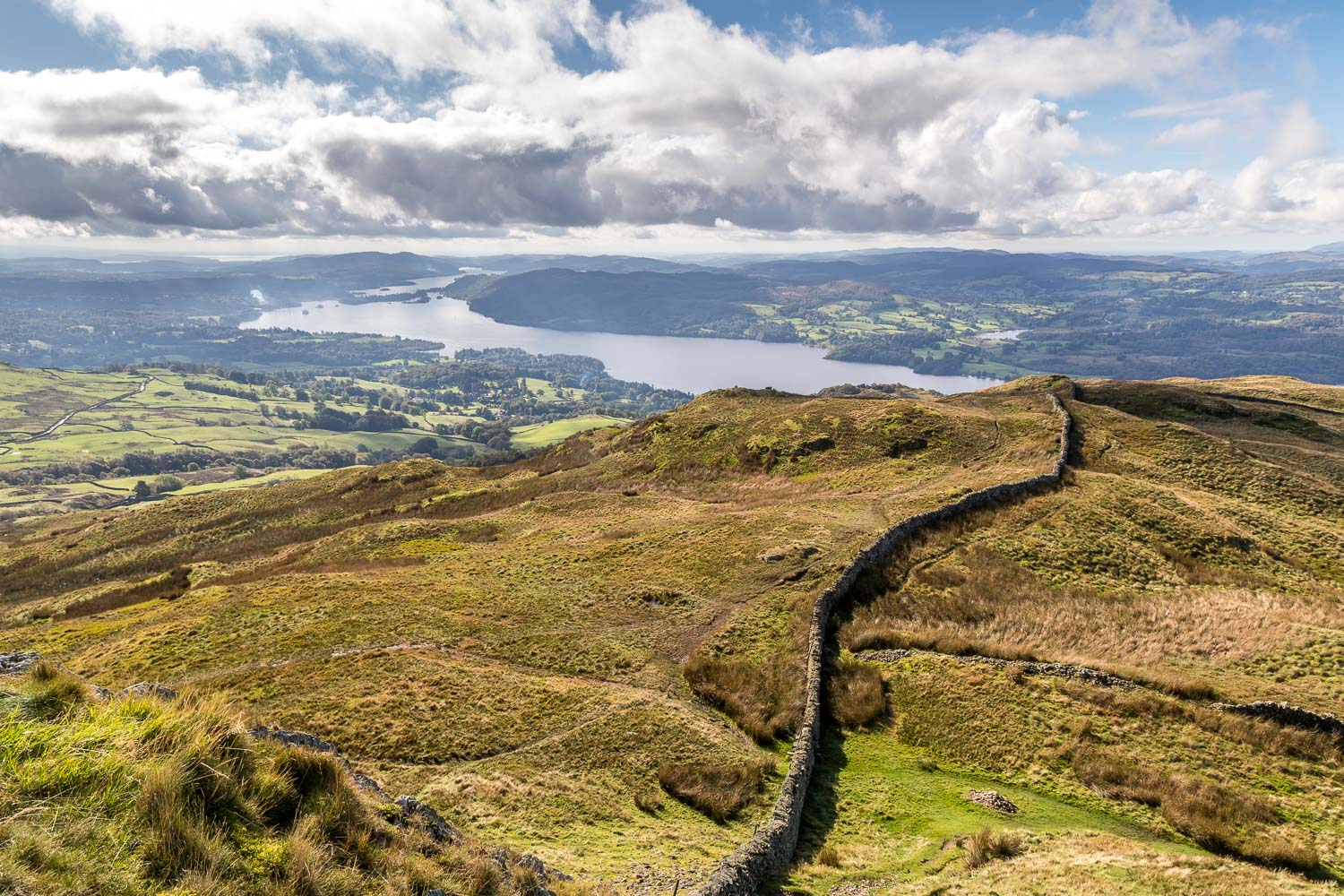 Wansfell Pike view, Windermere