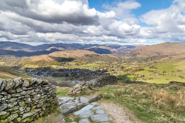 Wansfell Pike, Ambleside view