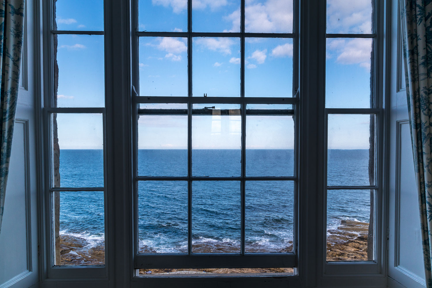The Bathing House Northumberland view from window